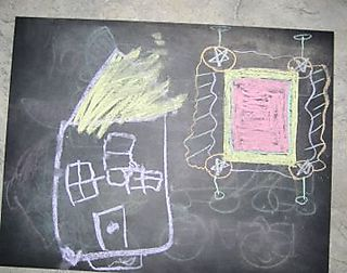 Chalk and paper