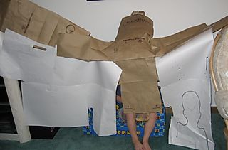 Recycled paper fort
